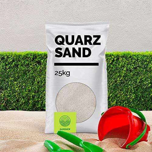 Quarzsand - Spielsand weiß, in sehr feiner Körnung, der Standard für Sandkasten und Beachvolleyball Felder, kostenlose Lieferung,1 kg - 5000 kg im praktischen BigBag (25kg)