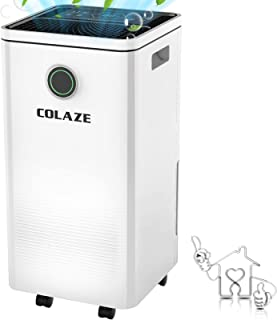 COLAZE 除湿機 衣類の乾燥機 じょしつき 衣類乾燥機 人気 12L/日 排水ホース付きコンプレッサー式 除湿機、24時間タイマー自動オフ 自動排水 自動霜取り 強力除湿 梅雨対策 浴室や地下室など湿気の多い場所用