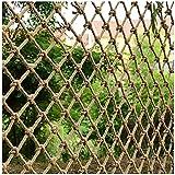 Red de Cuerda Foto Red De Decoración De Pared, Red De Cuerda De Cáñamo, Red De Seguridad for Niños Escaleras Anti-caída Red Balcón Partición Barrera De Ventana Litera Protección Red (Size:1*2m(3*7ft))