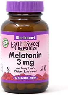 Bluebonnet Nutrition EarthSweet Melatonin 3 mg Fast-Acting Quick Dissolve Nighttime Relaxation & Restful Sleep Support - S...