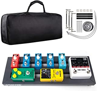 Pedal Board, Guitar Pedal Board Aluminum Alloy Small Lightweight Portable Electric Guitar Effects Board, 19.53'' x 7.1'', by Vangoa [UPGRADE]