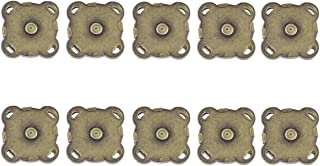 WINOMO 10 Sets of 15mm Sew In Magnetic Bag Clasps for Sewing (Bronze)