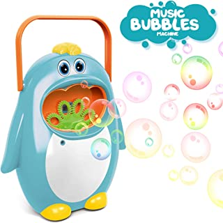 AiToy Bubble Machine, Automatic Bubble Maker Penguin Bubble Blower Maker Kids Toy for Boys Girls Use for Indoor, Outdoor, Party, Wedding (Blue)