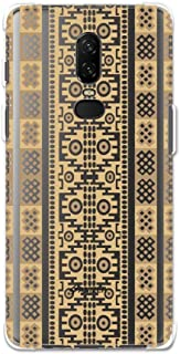 AMZER Designer Slim TPU X Protection Soft Gel Case Protective Back Cover for OnePlus 6 - Stripes of Culture - Sandstone HD Color