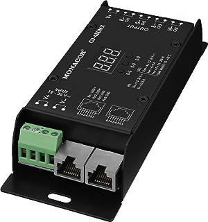 Monacor CU-48DMX 4-kanaals RGBW-LED DMX-controller voor aansturing van LED-strips zwart