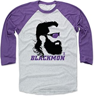 500 LEVEL Charlie Blackmon Shirt - Colorado Baseball Raglan Tee - Charlie Blackmon Silhouette