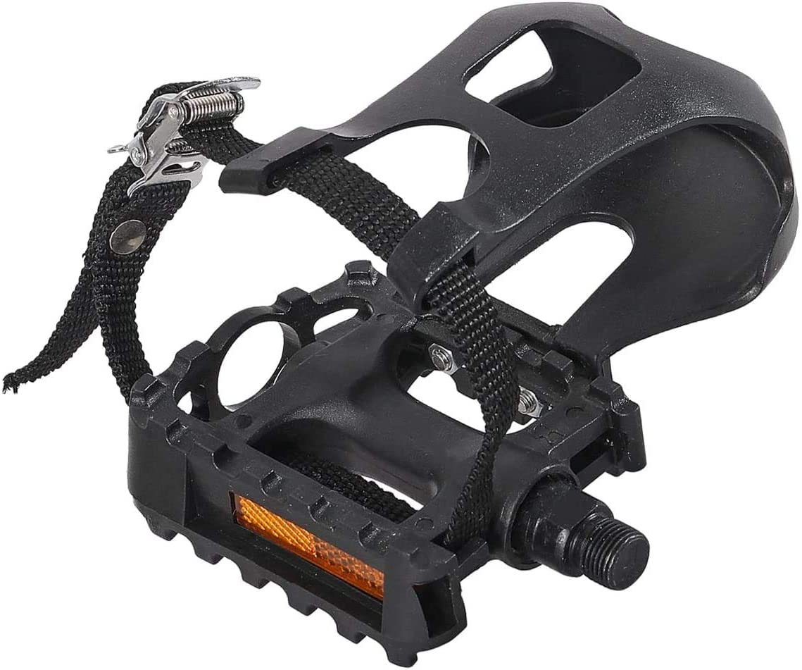 JAOK Bike Pedals with Clips and Store for Straps Outdoor Exerci 1 Pair 5 ☆ popular
