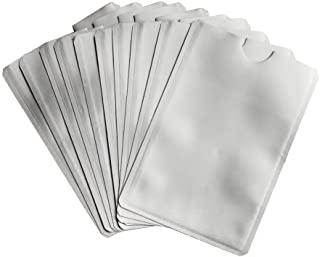 Leen4You RFID Blocking Card Sleeve Passport Bank Card Credit/Debit ID Card Anti Theft RFID Blocking Safety Cases Aluminum ...