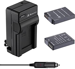 Powerextra Nikon EN-EL12 互換バッテリー2個+車載充電器 対応機種 Nikon Key Mission 360 170 Nikon Coolpix AW100 AW100s AW110 AW110s AW120 P330...