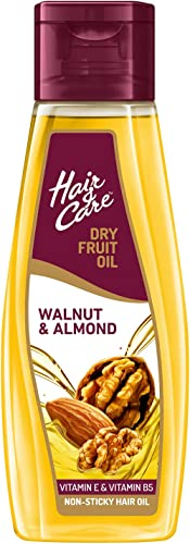 Hair & Care with Walnut & Almond,Non-Sticky Hair Oil, 300 ml