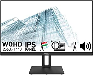 【Amazon.co.jp限定】MSI PRO MP271QP モニター 高画質IPSパネル スリムベゼル スピーカー搭載 WQHD/27インチ/60Hz/5ms(GTG)/ブルーライトカット/アンチフリッカー/3年保証