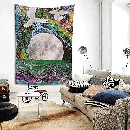 Montañas y ríos Sol, luna y estrellas Tapiz Colgante de pared Dormitorio Sala de estar Decoración de dormitorio Tapices Playa Tela de picnic Tapices de porche 150x200cm