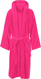 MyShoeStore® LUXURY EGYPTIAN COTTON TOWELLING BATH ROBE DRESSING GOWN TERRY TOWEL BATHROBES Large / X-Large Fuchsia / Hooded