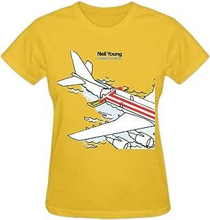 Neil Young Landing On Water Women T Shirts O-Neck