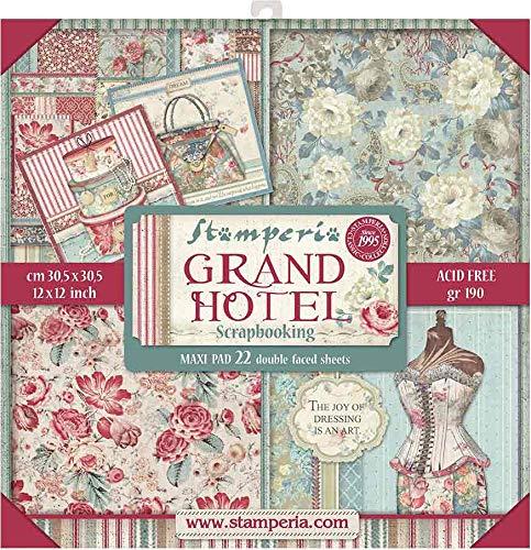 STAMPERIA Kit de Scrapbooking Maxi Grand Hotel 30x30cm, Multicolor, talla única