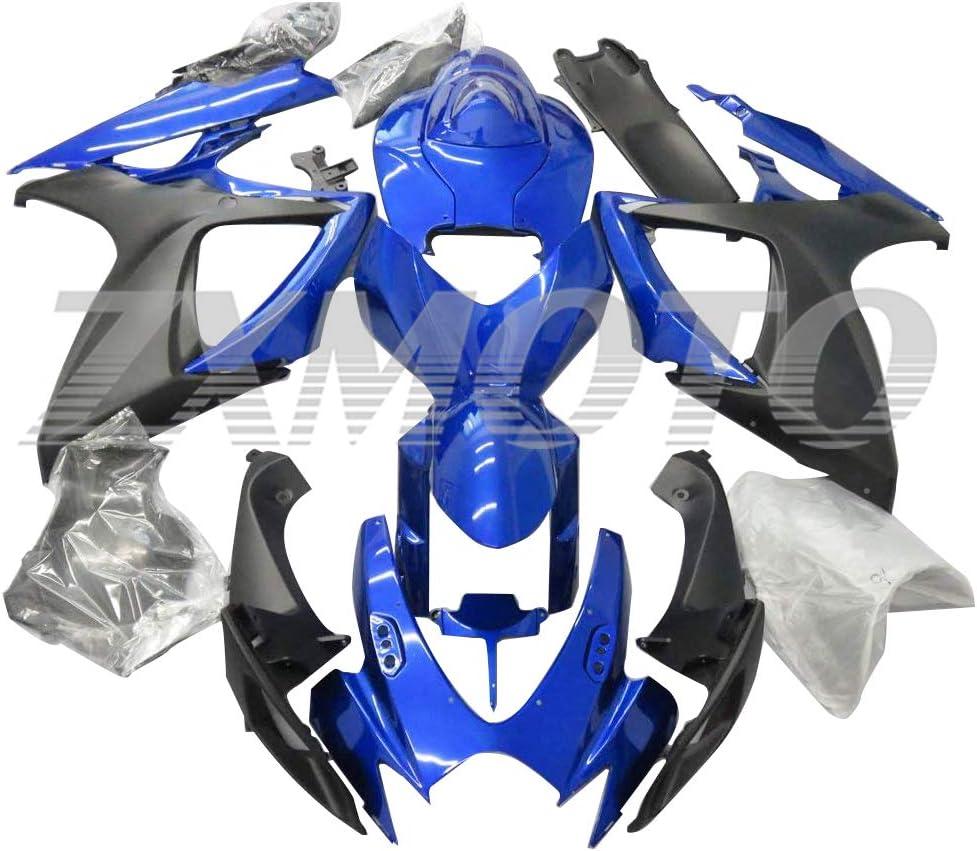 ZXMOTO Blue Matt Black Max 54% OFF Fairing Kit Spasm price for 6 Suzuki 2006 2007 GSXR