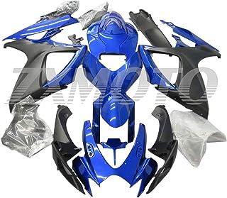 Sponsored Ad - ZXMOTO Blue & Matt Black Fairing Kit for 2006 2007 Suzuki GSXR 600 GSXR 750 K6