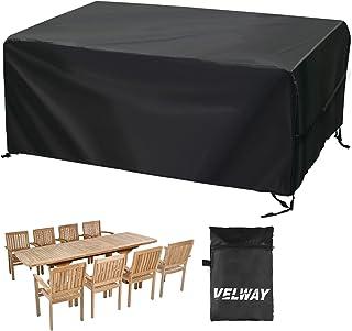 Velway Housse pour Table de Jardin Bâche de Protection Salon 242x162x100cm Housse de Protection Meuble Imperméable Oxford ...