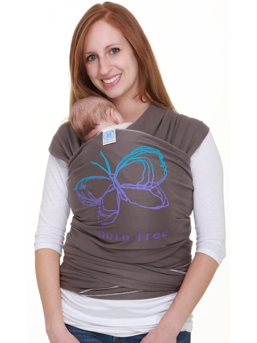 Moby Wrap Baby Carrier Designs (Born Free Slate)