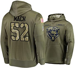 Littlearth Chicago Bears #52 Khalil Mack Salute to Service Hoodie Men L
