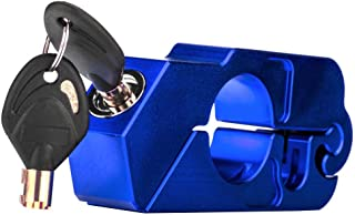 Kesoto Trava de guidão de alumínio CNC universal azul com 2 chaves para motocicleta ATV Scooter