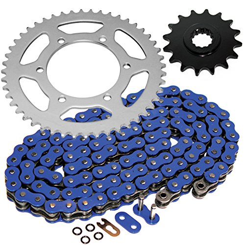 Caltric O-Ring Blue Drive Chain & Sprockets Kit Compatible With Yamaha R6 Yzfr6 Yzf-R6 2003-2005