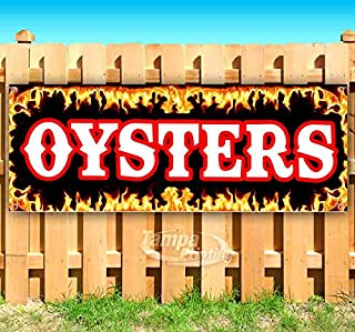 Oysters 13 oz Banner Heavy-Duty Vinyl Single-Sided with Metal Grommets