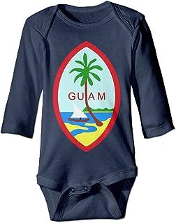 Infant Boys Girls Guam Summer Island Novelty Baby Onesie Bodysuits Long Sleeve