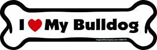 Imagine This Bone Car Magnet, I Love My Bulldog, 2-Inch by 7-Inch