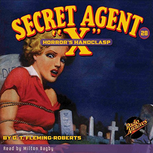 "Secret Agent ""X"" #28 audiobook cover art"
