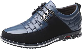 LATINDAY ◕‿◕ Men's Prince Classic Modern Formal Oxford Round Head Lace Up Leather Shoes