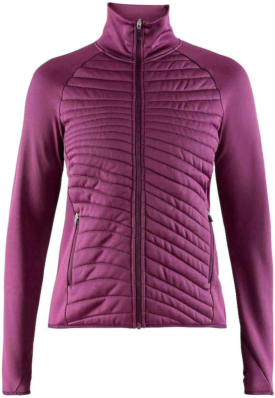 Craft Sportswear Women's Breakaway Running and Training Outdoor Sport Quilted Jersey Jacket