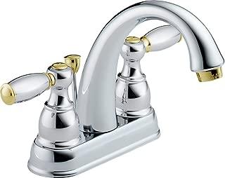 Delta 25995LF-CB-D Two Handle Centerset Bathroom Faucet, Chrome/Brass