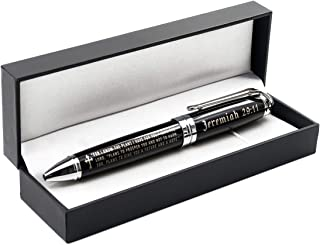 Jeremiah 29:11 Engraved Gift Pen with Presentation Box - Inspirational Christian Living Bible Gifts for Men Women of Faith