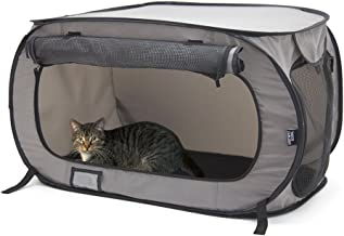 SportPet Designs Large Portable Kennels- Indoor Outdoor Crate for Pets, Portable Car Seat Kennel, Cat Bed Collection