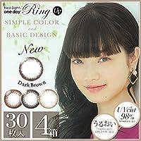 ネオサイト ワンデー リング UV 1箱30枚入 4箱 【カラー】ダークブラウン 【PWR】-1.50