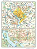 Washington, DC Wall Map, Small - 11.25' x 14.75' Matte Plastic