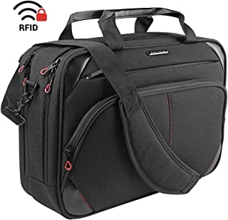 KROSER Laptop Bag 15.6 Inch Laptop Briefcase Laptop Messenger Bag Water Repellent Computer Case Laptop Shoulder Bag Durabl...