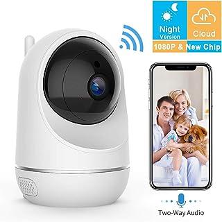 VIDEN Cámara IP WiFi 1080P Cámara de Vigilancia WiFi Interior Seguridad para casa con Visión Nocturna Detección de Movimiento Remoto Alarma de Correo Electrónico Audio de 2 Vías