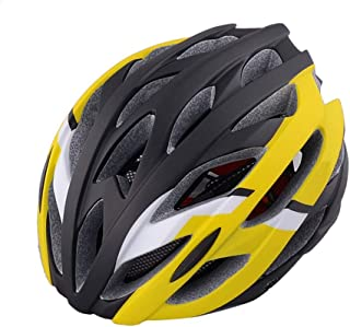 Crystalzhong-sp Mountain Bike One-Piece Riding Helmet Atomized Appearance Riding Helmet One-Piece Bicycle Helmet Cap (7 Colors) (Color : Yellow, Size : One Size)