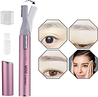 Eyebrow Trimmer for Women, Electric Eyebrow Hair Trimmer Eyebrow Shaper Lady Shaver Precision Micro Touch Razor, Personal Bikini Legs Shavers Arm Trimmer Flawless Face Hair Removal for Women