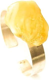 Armband Bernstein Armreif GELB MILKY sterling Silber 925 NEU- UNIKAT 21617