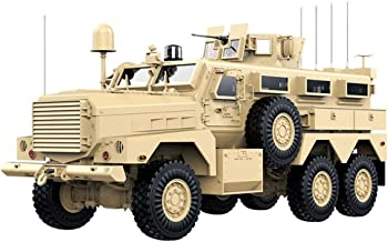KRCT 1:12 Scale High Simulation American Cougar Armored Vehicle 6WD Professional Off Road RC Car Alloy Chassis Explosion Proof Remote Control Truck 2.4G Rechargeable RC Vehicle Model