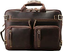 Computadora de Viaje tiding-3567 Hombre Moda Mochila Bolsa Exterior, la Primera Capa de Cuero de Alta Calidad Hecho a Mano, portátiles y de Hombro Dos Formas de Uso, Tendencia Retro Brown