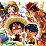 Anime One Piece Chibi Monkey D. Ruffy und Portgas D. Ace Figur Set Resin-Spielzeug-Dekoration / 10CM