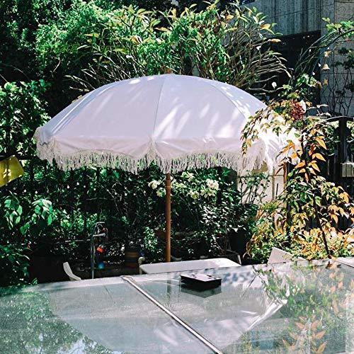 Sombrillas De Jardín Al Aire Libre De 2.0 M, Dispositivo De Inclinación Y 8 Costillas, Soporte Triangular De Hierro, Hawaiana De Playa