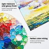 Arteza Acrylfarben, Set mit 12 Tuben, 22 ml Malfarbe pro Tube, hochwertige Acryl-Künstlerfarbe, zum Malen auf Leinwänden - 5