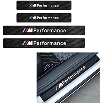 YIWANG 2PCS Rear Door Sill Scuff Plate Guards Trim for BMW X4 G02 X3 G01 2018 2019 with Colorful M3 Logo