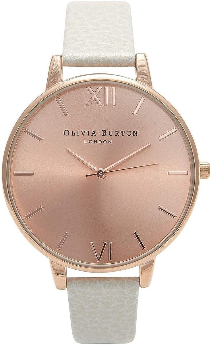 Olivia Burton Reloj Analógico para Mujer de Cuarzo japonés con Correa en Cuero OB13BD11