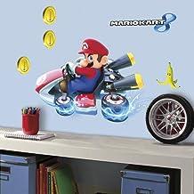 RoomMates RM - Mario Kart 8 muurstickers, PVC, kleurrijk, 49 x 13 x 2,5 cm